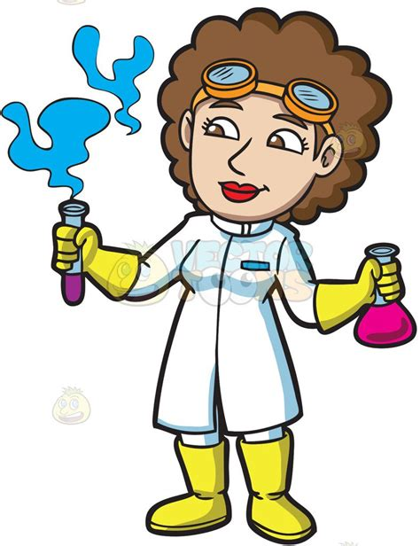 Scientist Clipart A Scientist Looking At The Fumes From A Test