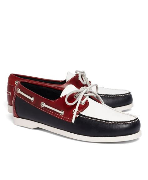 Brooks Brothers Boat Shoes by Brooks Brothers Colorblock Boat Shoe In Red For Men Red