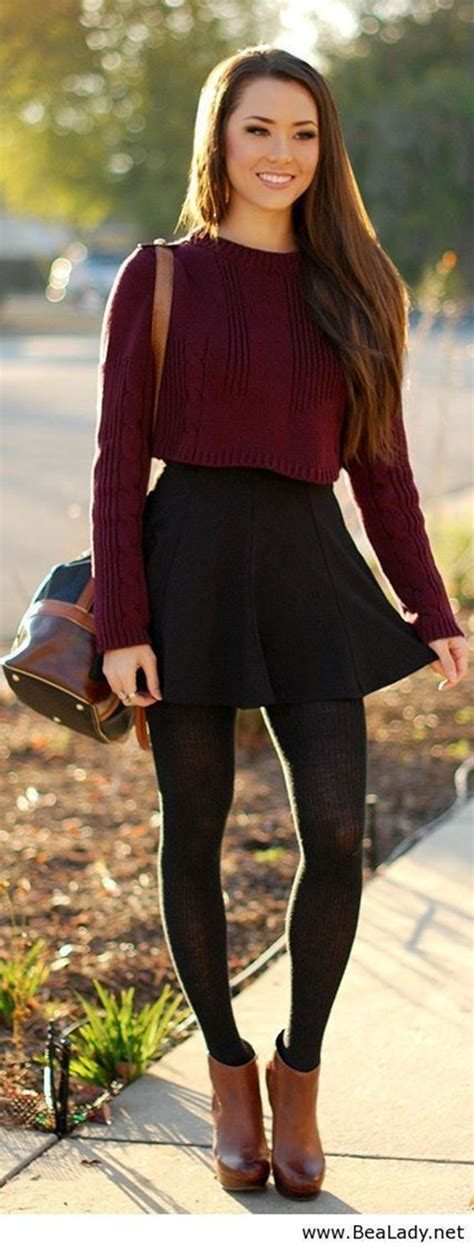 100 Cute Autumn Fashion Outfits For 2016 Wool Skirts