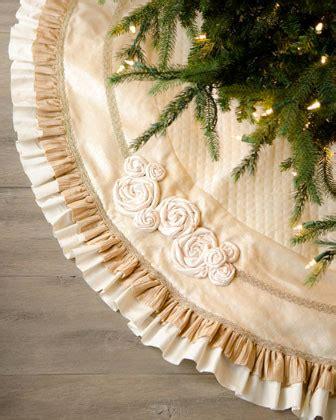 ivory christmas tree skirt with ruffles contemporary