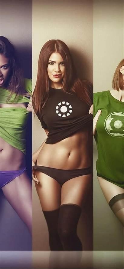 Shirts Wearing Wallpapers Superheroes Heroes Iphone Xs