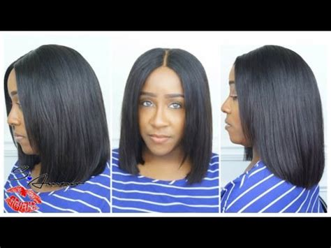 How To Cut A Deep Side Part Sew In Youtube