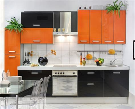 Kitchen Interior Decorating by Vibrant Orange Kitchen Decorating Ideas