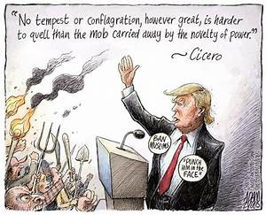 The Mob, Adam Zyglis,The Buffalo News,trump, the mob ...