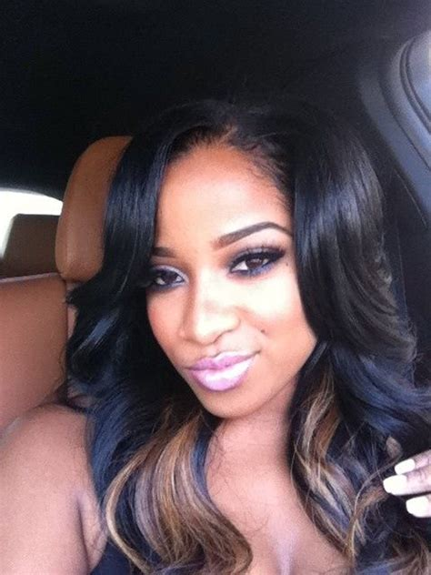 Toya Wright Hairstyles by Toya Wright Flawless Makeup Side Parting Weave Hair Style