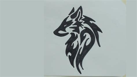 draw wolf head tribal tattoo  youtube