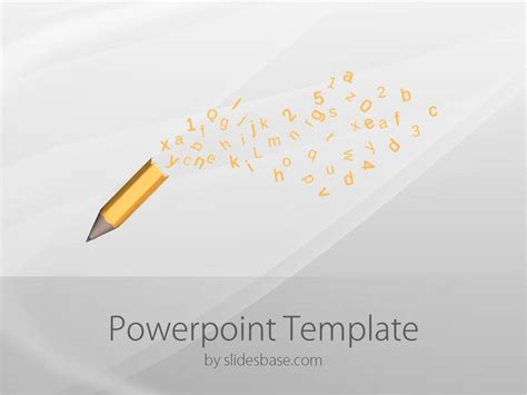 pencil letters powerpoint template slidesbase