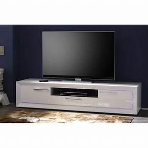 Meuble Blanc Pas Cher : photo meuble tv bas blanc pas cher ~ Dailycaller-alerts.com Idées de Décoration
