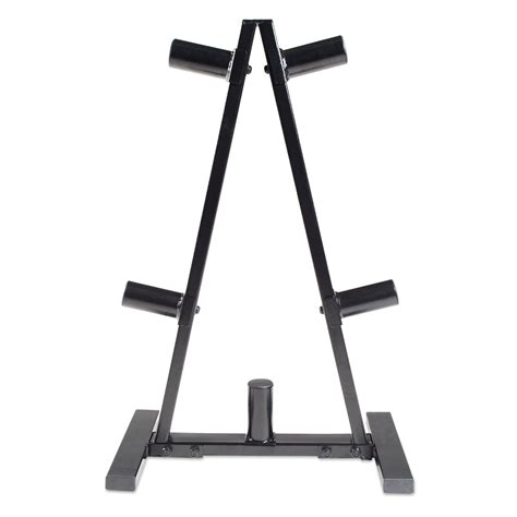 cap barbell rk bb  frame olympic plate rack black holds   olympic plates  pound