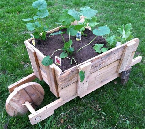 pallet wheel barrel planter pallet furniture plans
