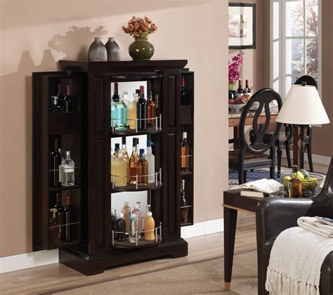 Metal Corner Liquor Cabinet And Wood Rack The Decoras
