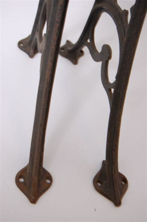 cast iron table legs antique decorative cast iron table legs base vintage