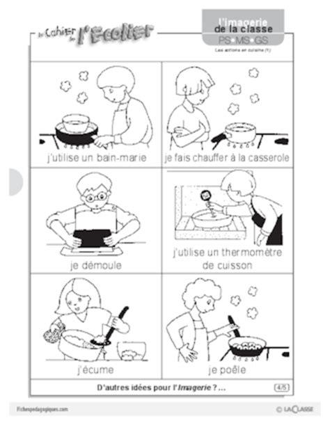 vocabulaire recette de cuisine imagerie les actions en cuisine 1 fichespédagogiques com