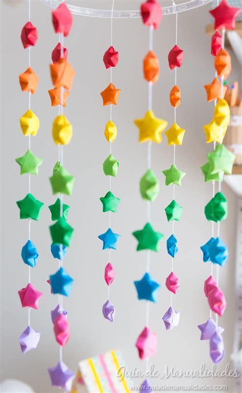 movil colorido  estrellas de origami guia de manualidades