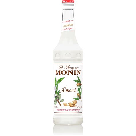 Monin Almond (Orgeat) Syrup   750 ml Bottle, 1 Liter Bottle(s): BaristaProShop.com