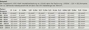 Kabellänge Berechnen : car hifi kabelquerschnitt tabelle ~ Themetempest.com Abrechnung