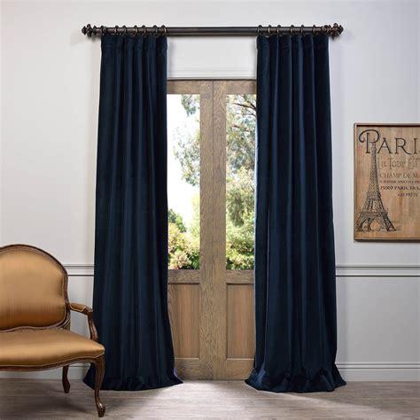 Navy Velvet Drapes - buy navy vintage cotton velvet curtain drapes