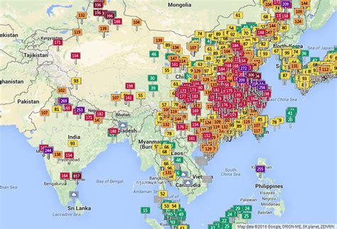la pollution est une fatalite du monde moderne carte interactive surveillez la pollution de l air en temps r 233 el partout dans le monde