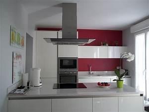 beau carrelage gris clair quelle couleur pour les murs With deco cuisine pour meuble