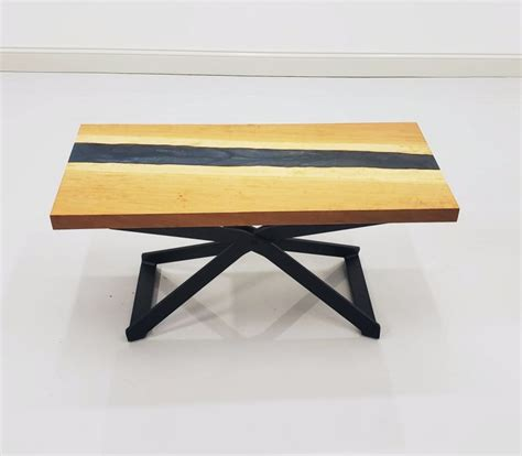 W 17 l 30 price: Cherry & Epoxy River Coffee Table   Amish Live Edge Coffee Table   Amish Furniture - Country ...