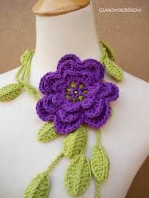 Free Crochet Flower Scarf Pattern