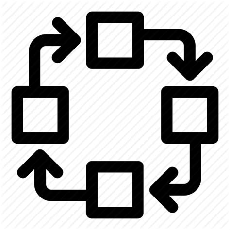 Air Flow Diagram Icon by Algorithm Clock Wise Cycle Diagram Flow Chart Process