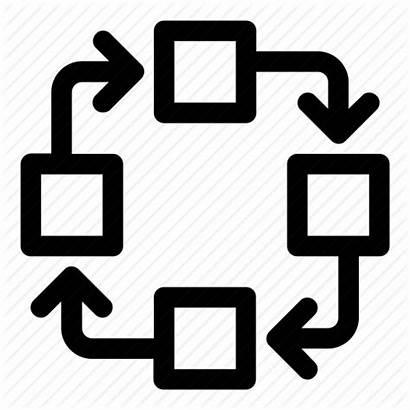Process Icon Flow Chart Clipart Procedure Diagram