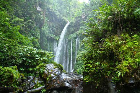 Tiu Kelep Waterfall Lombok West Nusa Tenggara