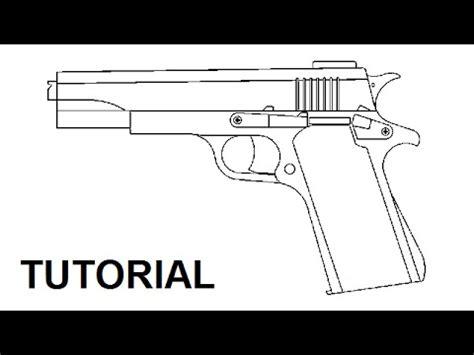 rubber band gun template tutorial blowback rubber band gun