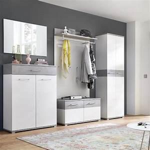 Moderne Garderoben Set : garderoben set dakota 01 wei beton optik b x h x real ~ Frokenaadalensverden.com Haus und Dekorationen