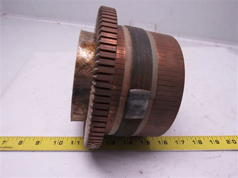 Commutator Electric Motor by Kirkwood Vintage Industrial Copper Electric Motor
