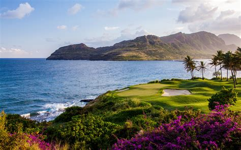green kitchen island if the scenery equals the golf the name is kauai