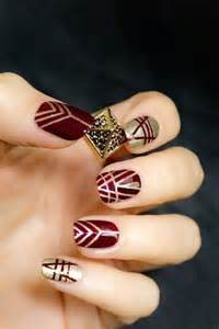 Top beautiful red and gold nail art