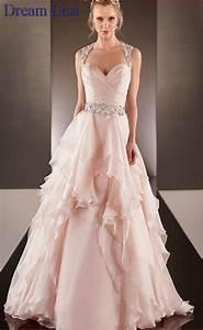 peach colored wedding dresses 2015 a line sweetheart With peach colored dresses wedding