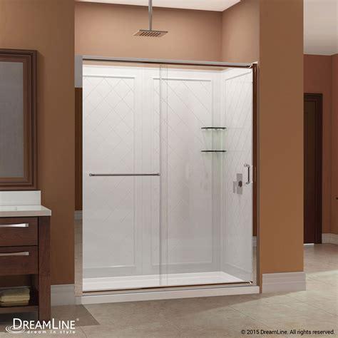 shower kit infinity z sliding shower door base backwall kits