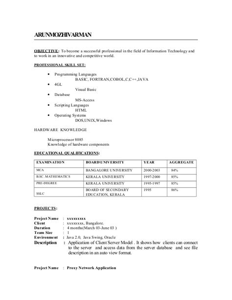 fresher resume sle2 by babasab patil