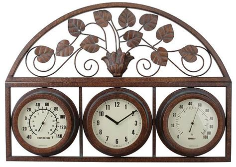 decorative outdoor gauges outdoor clocks thermometers