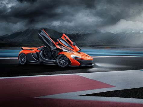 Mclaren P1 Orange Supercar Doors Opened 4k Iphone