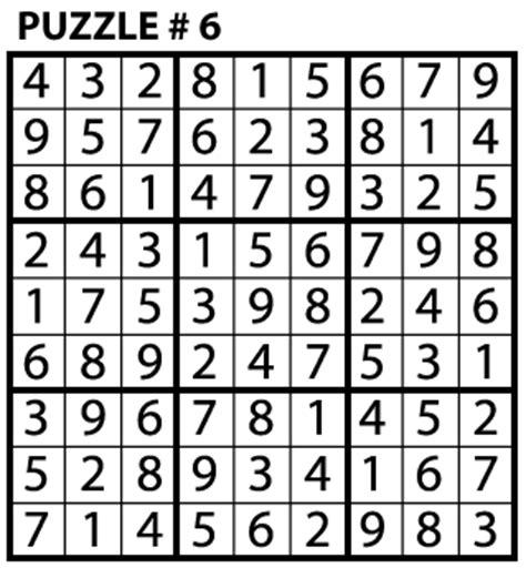 sudoku puzzle education world