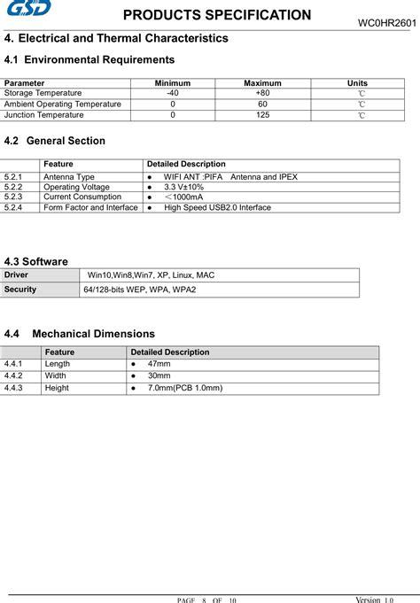 WC0HR2601 WIFI Module User Manual Users manual Hui Zhou