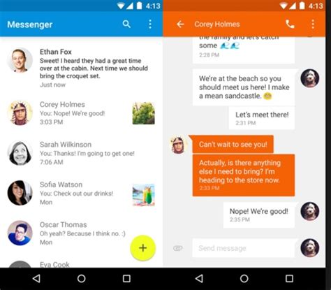 free text messaging apps for android top best free texting apps for android technobezz