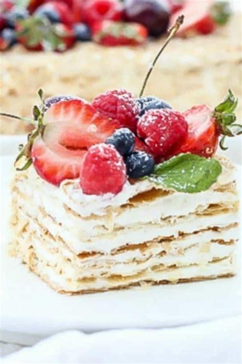Skip to recipe print share. Napoleon Cake Recipe - Valentina's Corner