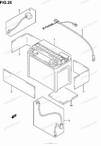 Suzuki Motorcycle 2003 Oem Parts Diagram For Battery