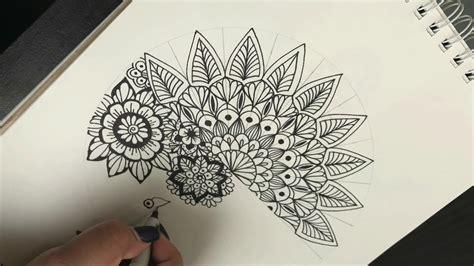 como hacer una mandala simple  diferente   draw
