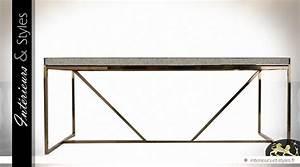 Miroir 2 Metre : table v nitienne en miroir et marbre argent et or 200 cm int rieurs styles ~ Teatrodelosmanantiales.com Idées de Décoration