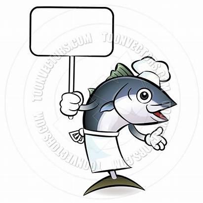Fish Clipart Salmon Chef Tuna Cartoon Clip