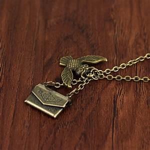 necklace owl hogwarts acceptance letter pendant locket With hogwarts letter necklace