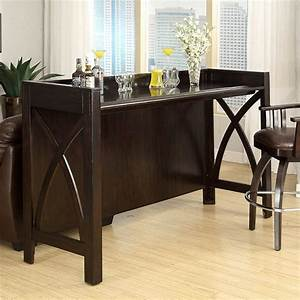 Espresso home theater bar for Home theater bar furniture