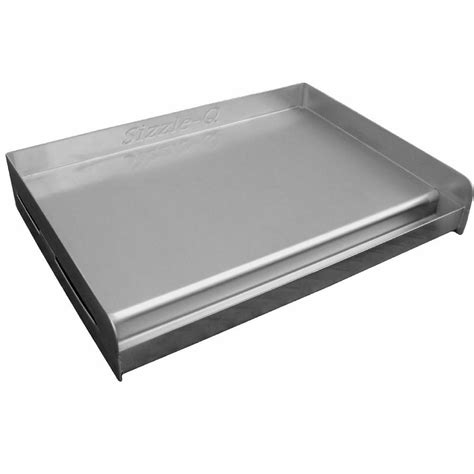 Kitchen Grill Plate by New Sizzle Q Outdoor Stainless Steel Griddle Cook Plate