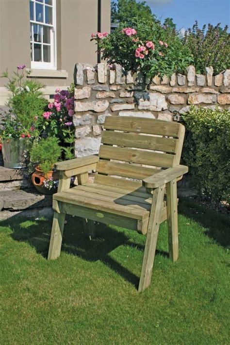 dean garden chair wooden park single seater wood seat